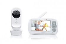 Opiniones y precio del vigilabebesMotorola Baby Ease 34 – Vigilabebés con cámara-Video monitor para bebés con pantalla HD de 4.3 pulgadas-visión nocturna, comunicación bidireccional, canciones de cuna, monitoreo de temperatura, Blanco