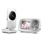 Opiniones y precio del vigilabebesMotorola Baby PNI-MBP482 – Vigilabebés vídeo con pantalla LCD a color de 2.4″, modo eco y visión nocturna, color blanco